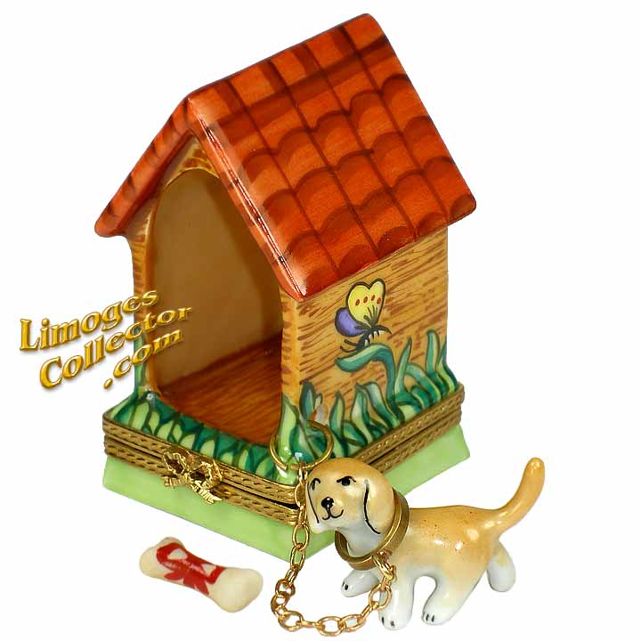 Dog in the Dog house Limoges box by Beauchamp | Limogescollector.com