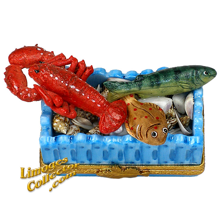 Seafood Fish Basket Limoges Box | LimogesCollector.com