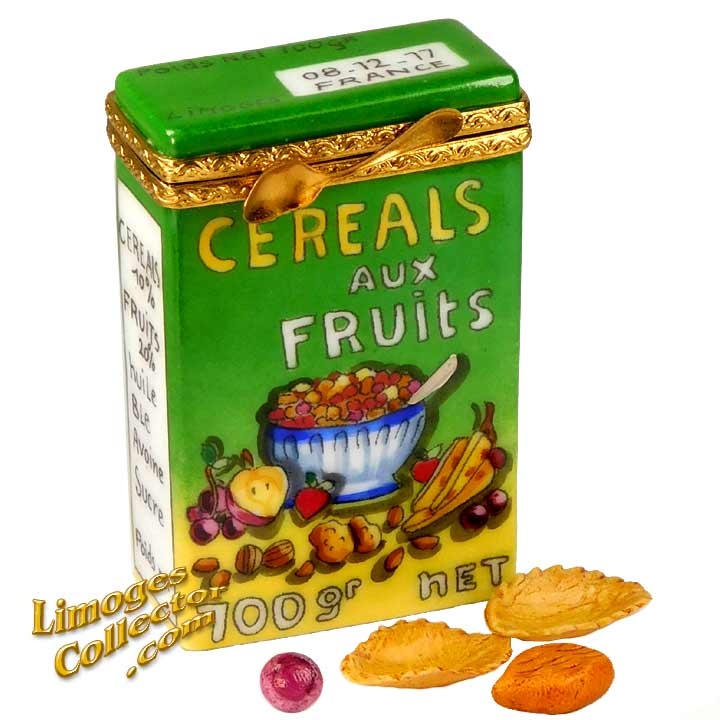 Cereal with Fruits & Nuts, an Exclusive Limoges Box by Beauchamp Limoges | LimogesCollector.com