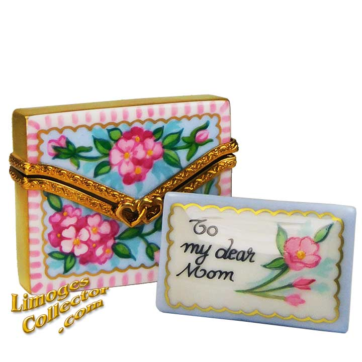 To My Dear Mom Envelope Limoges Box | LimogesCollector.com