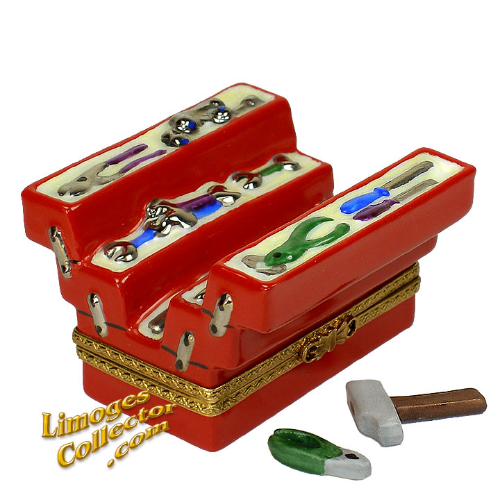 Tool Chest Limoges Box by Beauchamp Limoges | LimogesCollector.com