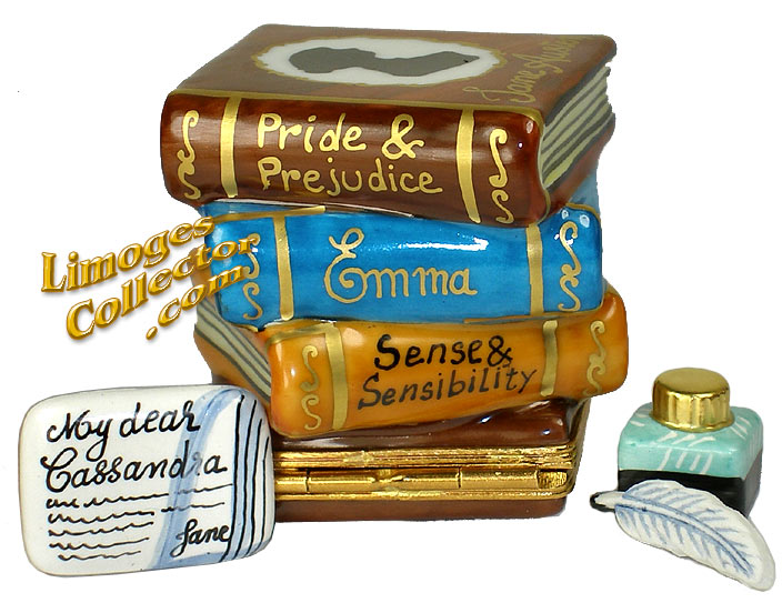 Collectible Jane Austen Set of Books Limoges Box by Beauchamp | LimogesCollector.com