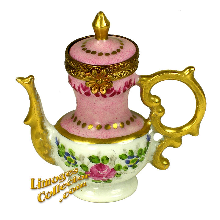 Victorian Floral Coffee Pot Limoges Box | LimogesCollector.com