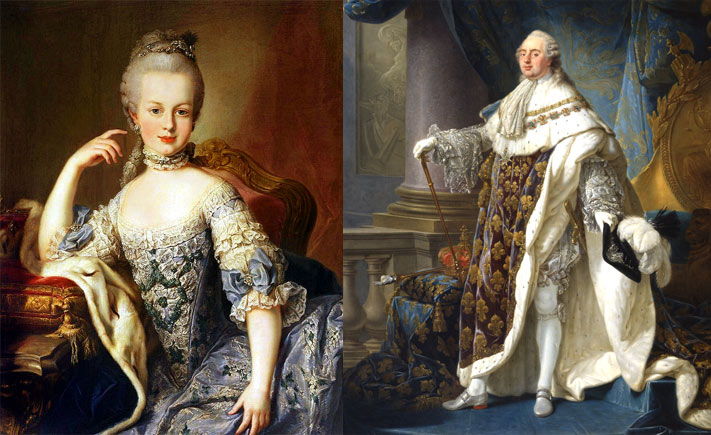 Marie Antoinette and Louis XVI of France