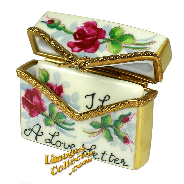 A Love Letter Envelope Limoges Box by Beauchamp | LimogesCollector.com