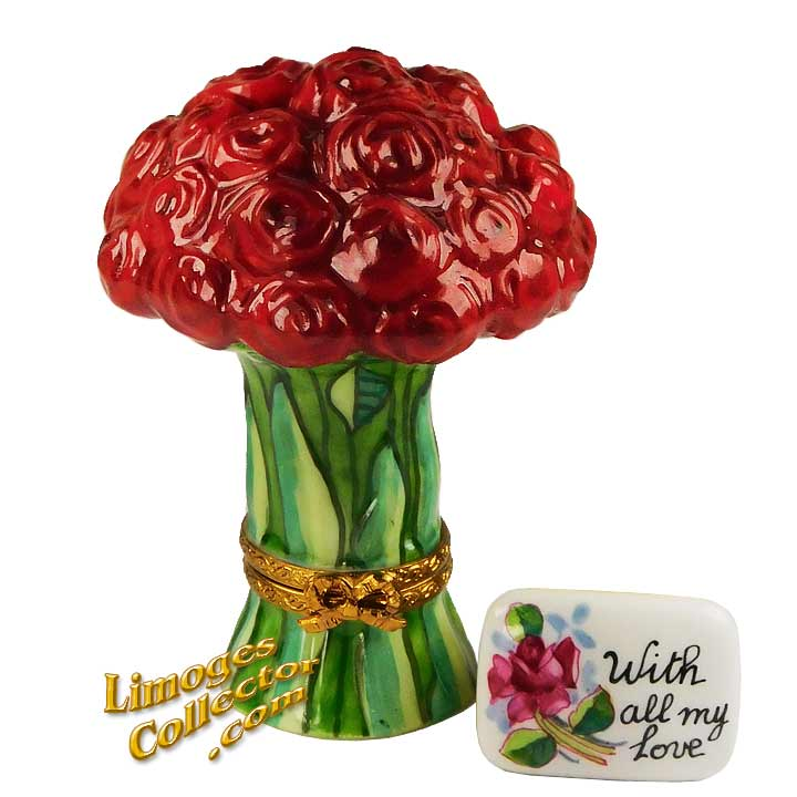 Bouquet of Red Roses Limoges Box by Beauchamp | LimogesCollector.com