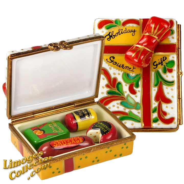 Box of Holiday Gourmet Gifts, an Exclusive Limoges box by Beauchamp | LimogesCollector.com