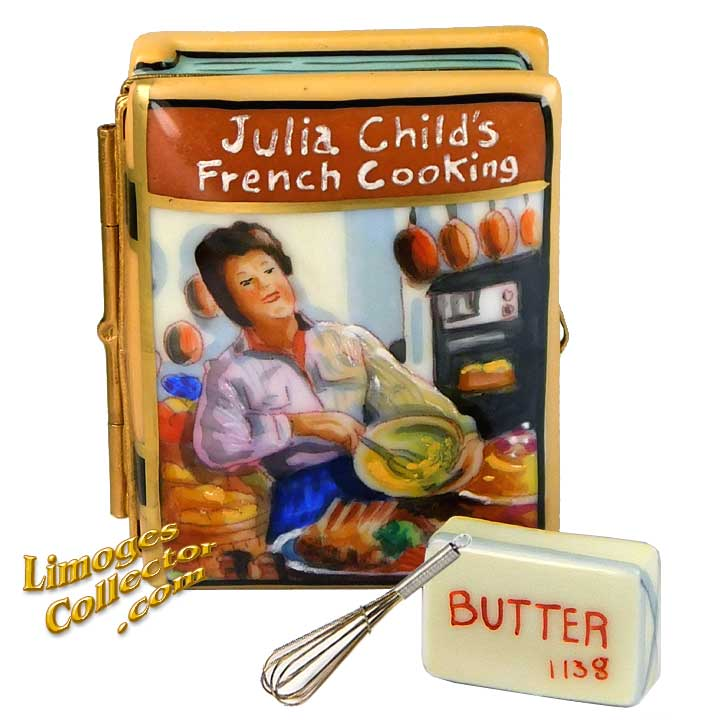 "Julia Child ""French Cooking"" Cookbook, an Exclusive Limoges box by Beauchamp 