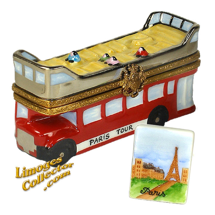 Paris Red Tour Bus Limoges Box | LimogesCollector.com