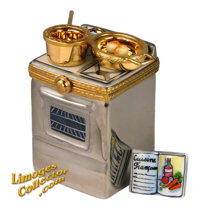 Stainless Steel Stove Oven, an Exclusive Limoges box by Beauchamp | LimogesCollector.com