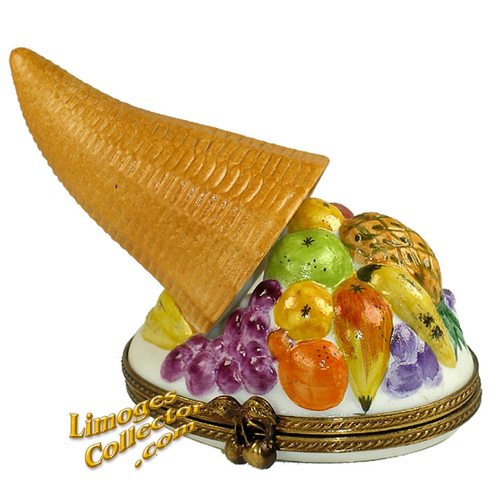 Cornucopia Horn of Plenty Limoges Box | LimogesCollector.com
