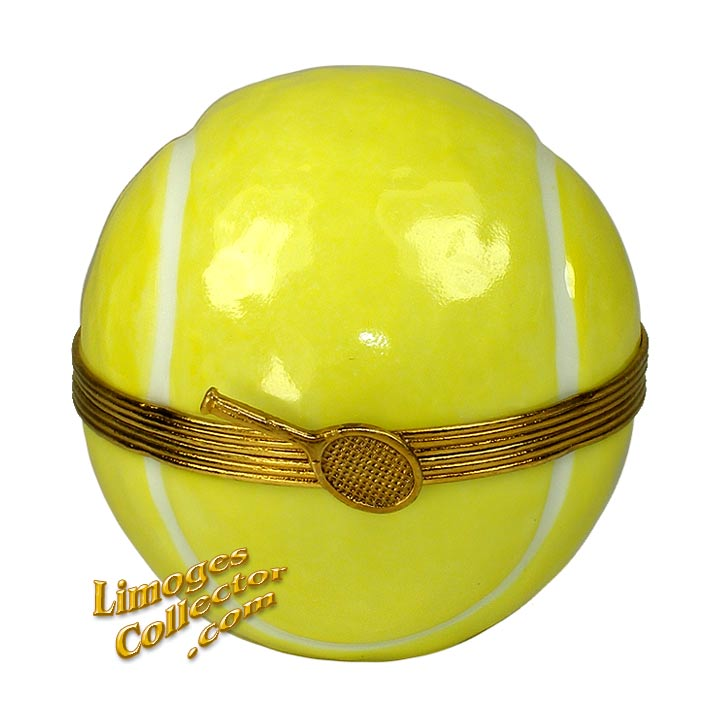 YELLOW TENNIS BALL LIMOGES BOX (BEAUCHAMP)