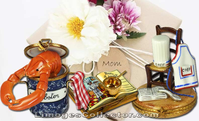 Mother's Day Limoges boxes for the gourmet Mom | LimogesCollector.com