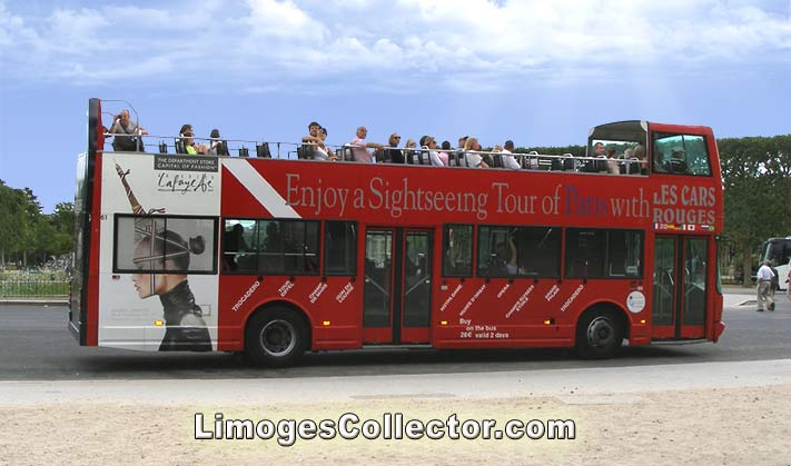 Paris Double-Decker Tour Bus | LimogesCollector.com