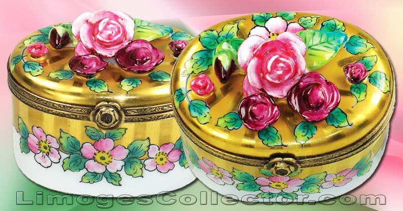 Floral Limoges Box by Beauchamp Limoges | LimogesCollector.com