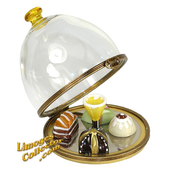 Dessert Tray under Glass Limoges Box | LimogesCollector.com