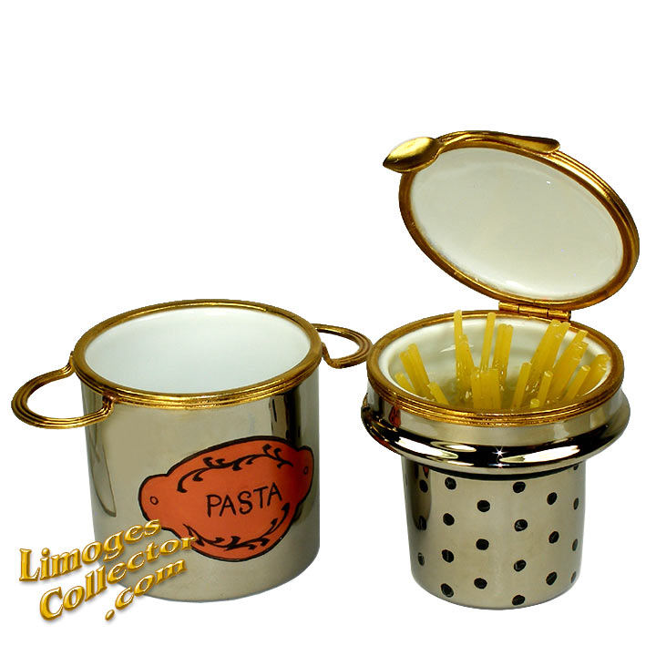 Pasta in Double Boiler Limoges Box by Beauchamp | LimogesCollector.com