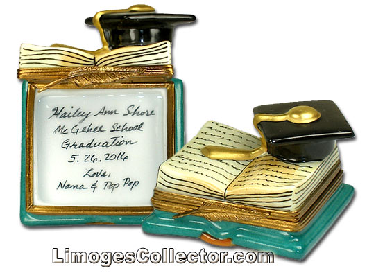 Personalized Graduation Limoges Boxes from LimogesCollector.com