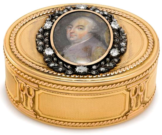 Louis XVI Gold and Diamond mounted Snuffbox