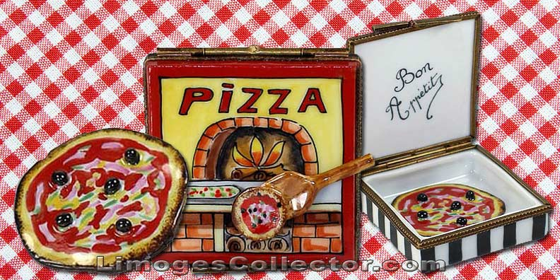 Pizza in Box Limoges Box by Beauchamp | LimogesCollector.com