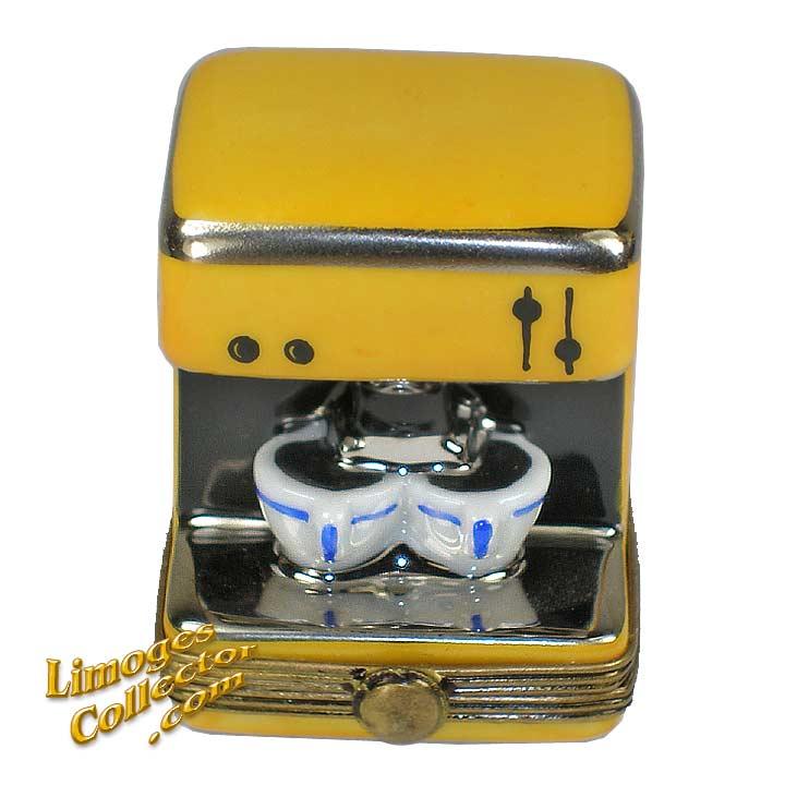Espresso Coffee Machine Limoges Box | LimogesCollector.com