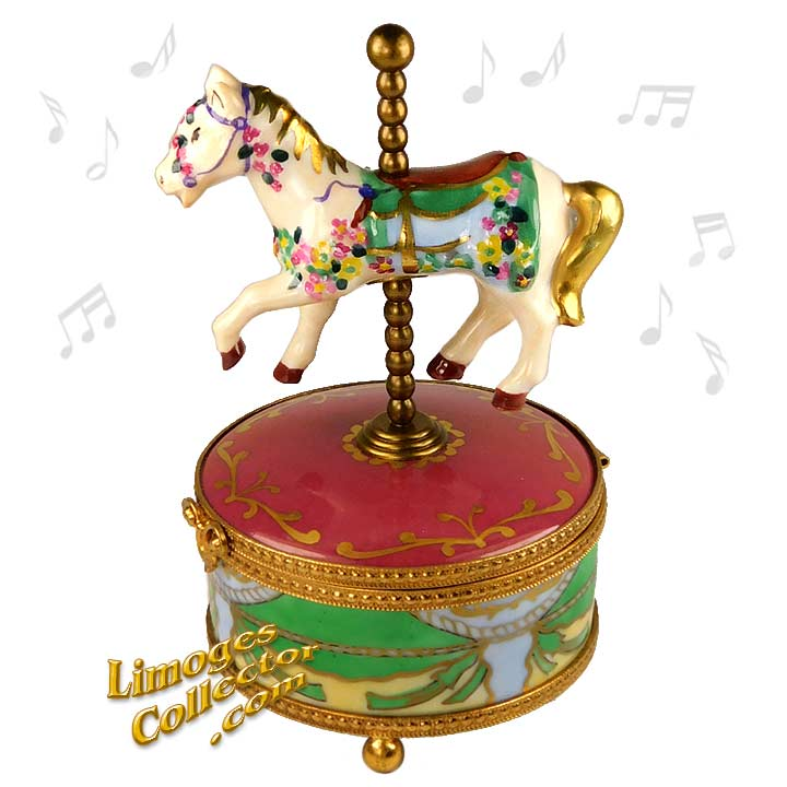 Carousel Horse Music Box Limoges | LimogesCollector.com
