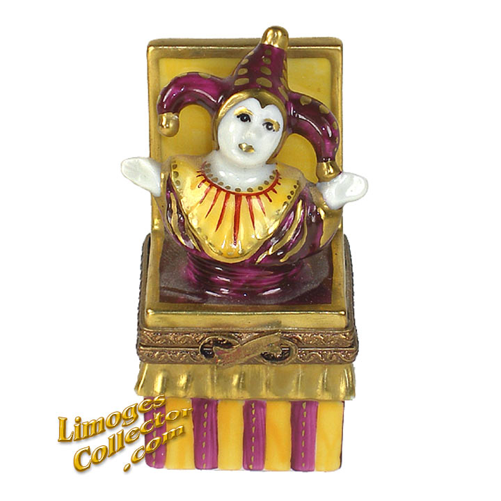 Harlequin Jester Jack-In-The-Box Limoges | LimogesCollector.com