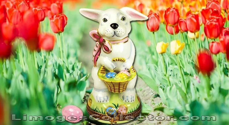Easter Bunny Limoges Box Spring Decor   LimogesCollector.com