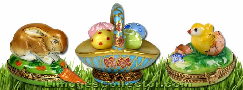 Bunny Rabbits and Easter Basket Limoges boxes | LimogesCollector.com