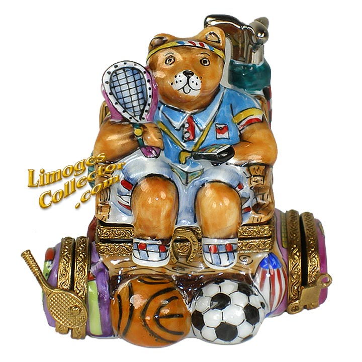Multi-Sports Bear Limoges Box | LimogesCollector.com