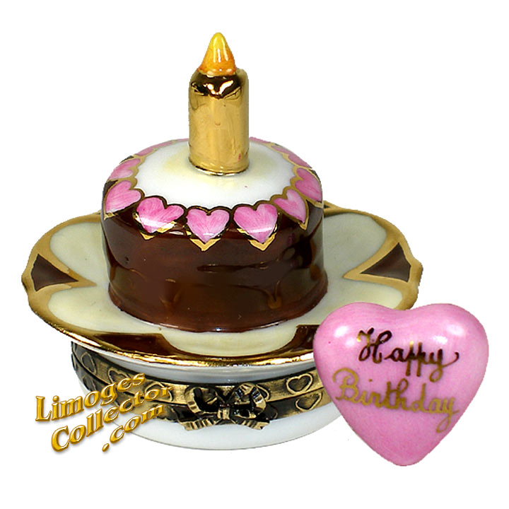 Birthday Cake Limoges Box by Beauchamp | LimogesCollector.com