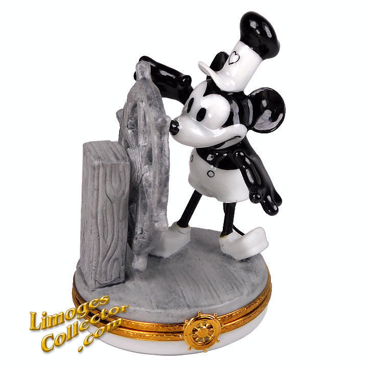 Mickey Mouse Steamboat Willie Limoges Box | LimogesCollector.com