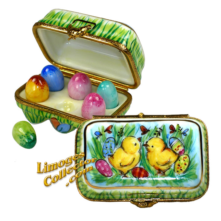Easter Egg Carton Limoges Box by Beauchamp Limoges  | Limogescollector.com
