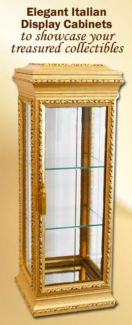 Gold Vitrine Curio Display Cabinets Imported from Italy | LimogesCollector.com