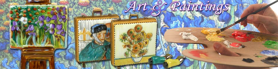 Art and Paintings Limoges Boxes