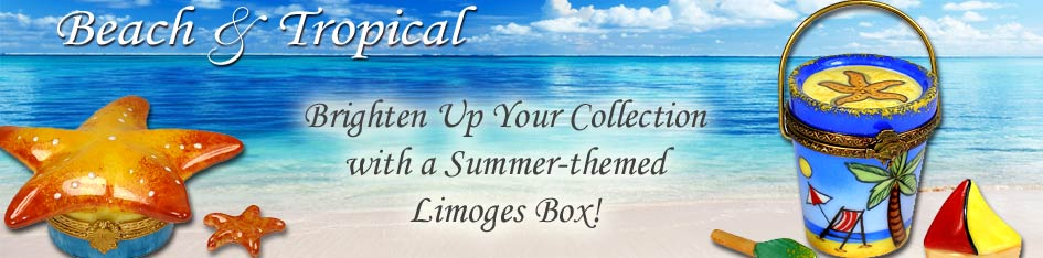 Beach and Tropical Limoges Boxes
