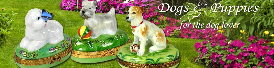 Dog Limoges Boxes