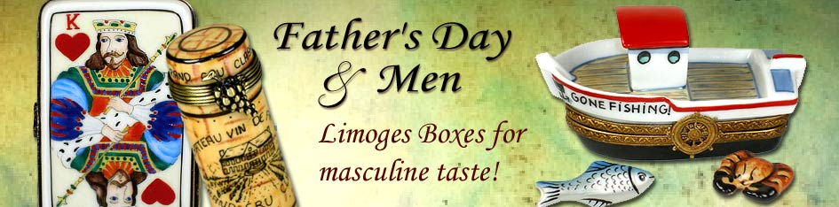 Fathers Day and Men Limoges Boxes