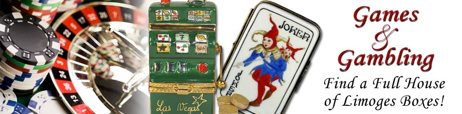 Games and Gambling Limoges Boxes