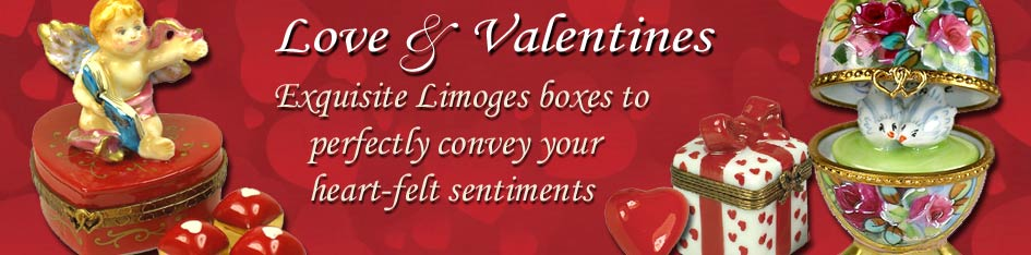 Love and Valentines Day Limoges Boxes