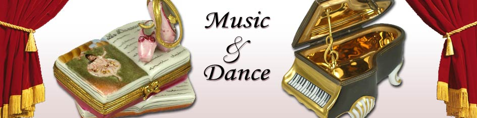 Music and Dance Limoges Boxes
