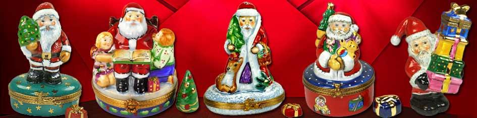 Santa Claus Limoges Boxes