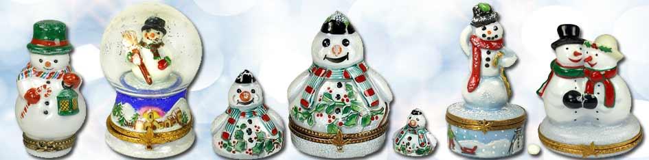 Snowman Limoges Boxes