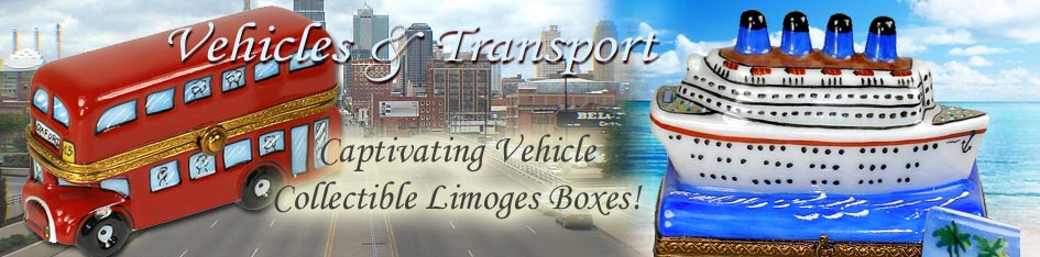 Vehicles and Transport Limoges Boxes