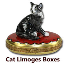 Cat Limoges Boxes