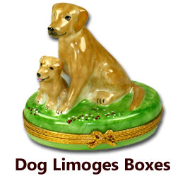 Dog & Puppy Limoges Boxes