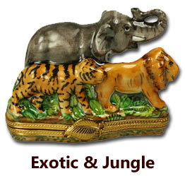 Exotic and Jungle Limoges Boxes