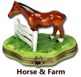 Horse & Farm Animal Limoges Boxes