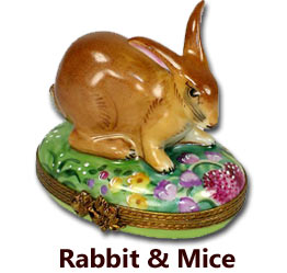 Rabbit & Mice Limoges Boxes