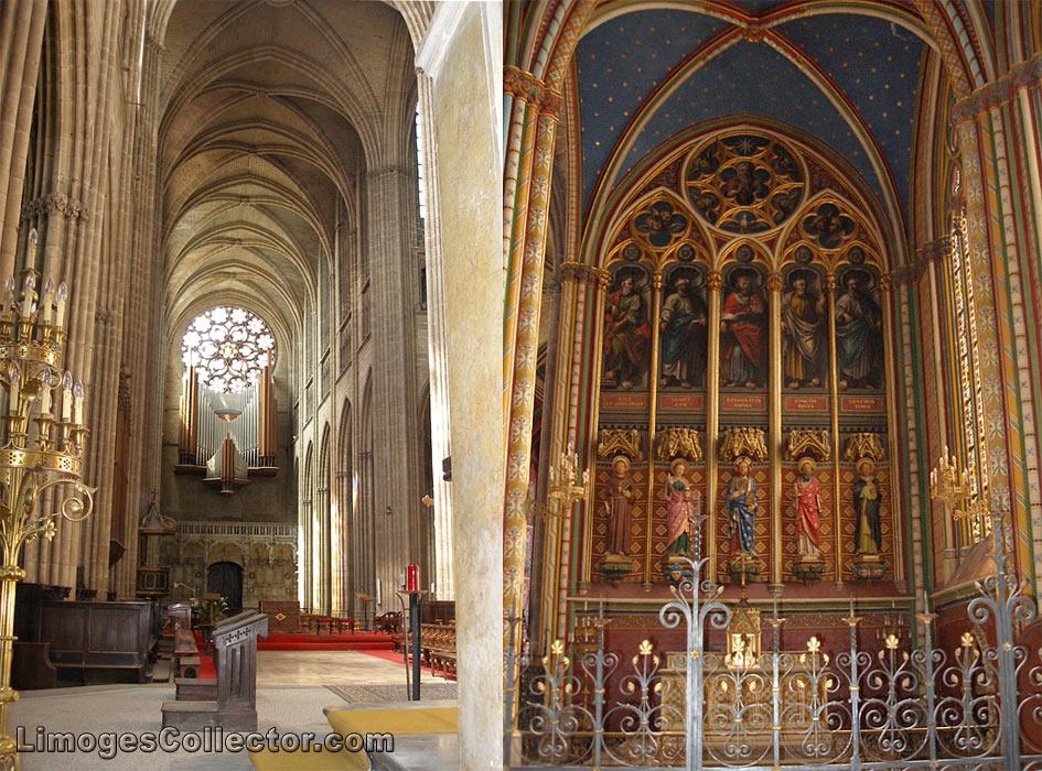 Saint Etienne Cathedral interior, Limoges France